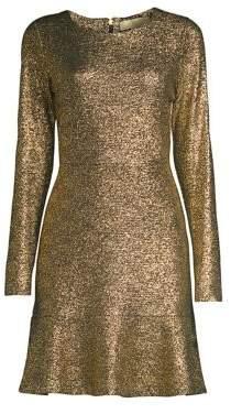 MICHAEL Michael Kors Foil Knit Flounce Dress