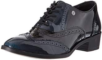 Elle Women's Wilson Lace-up Flats Black Size: 3.5