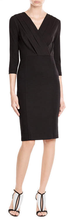 Max Mara Max Mara V-Neck Dress with Wool