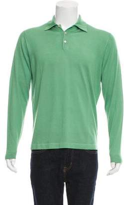 Malo Cashmere and Silk-Blend Polo Shirt