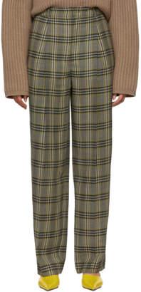 Joseph Grey Check Riska Trousers