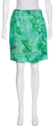 Michael Van Der Ham Silk Organza Knee-Length Skirt