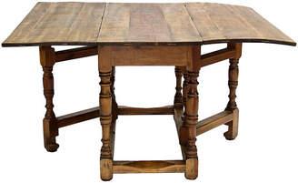 One Kings Lane Vintage Spanish Harvest Folding Gateleg Table