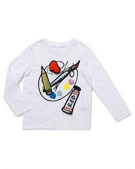 Stella McCartney Bella Girl Long Sleeve Palette Top (4-8Yrs)