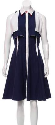 Prabal Gurung Sleeveless Button-Up Dress