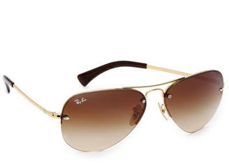 Ray-Ban Rimless Aviator Sunglasses $165 thestylecure.com