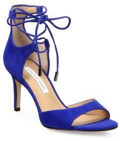Diane von Furstenberg Rimini Suede Lace-Up Sandals $298 thestylecure.com