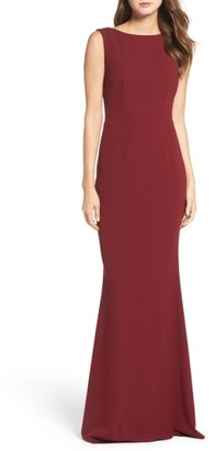 Women's Katie May Drape Back Crepe Gown $295 thestylecure.com