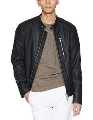 Armani Exchange A|X Men's Faux Leather Biker Jacket