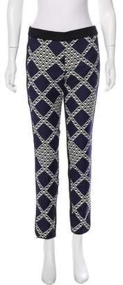Trina Turk Geometric Print Skinny Pants