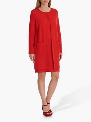Betty Barclay Longline Knit Cardigan, Red