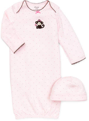 Little Me Baby Girls Polka-Dot Cap & Gown Set