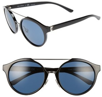 Women's Tory Burch 54Mm Sunglasses - Black/ Silver $195 thestylecure.com