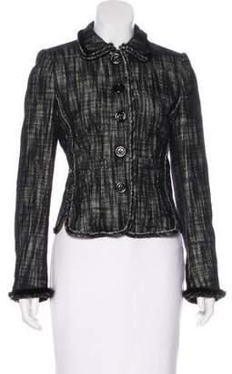 Rena Lange Wool Mink-Trimmed Jacket