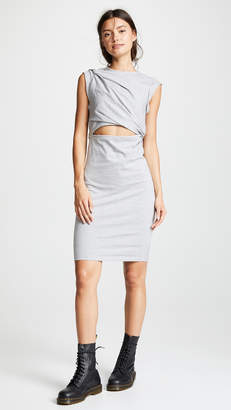 Alexander Wang Tank Dress with Shoulder Twist and Keyhole
