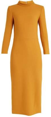 DAY Birger et Mikkelsen CARL KAPP Berlin collar wool-crepe dress