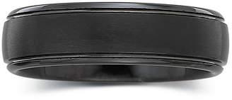 MODERN BRIDE Men's 6mm Black Tungsten Carbide Ring