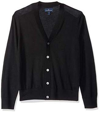 Buttoned Down Men's Italian Merino Wool Lightweight Cashwool Cardigan Sweater