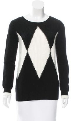Pink Tartan Patterned Wool Sweater w/ Tags $95 thestylecure.com