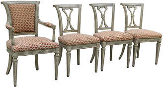 One Kings Lane Vintage Swedish Neoclassical Chairs - Set of 4 - Faded Rose Antiques LLC
