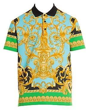 Versace Men's Printed Polo Shirt