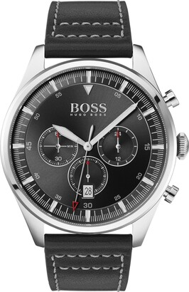 BOSS Pioneer Chronograph Leather Strap Watch, 44mm