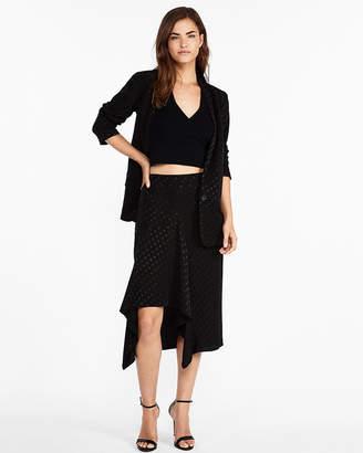 Express High Waisted Polka Dot Jacquard Pencil Skirt