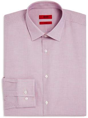 HUGO Micro-Check Slim Fit Dress Shirt
