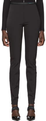 Prada Black Techno Logo Leggings