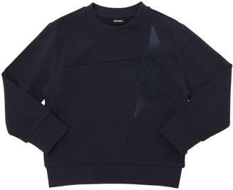 Diesel Denim Star Insert Cotton Sweatshirt