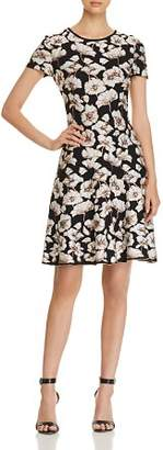 St. John Floral Jacquard Dress