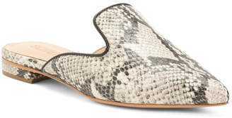 Made In Brazil Leather Snakeskin Mules