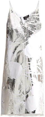 Calvin Klein 205w39nyc x andy warhol metallic cami dress