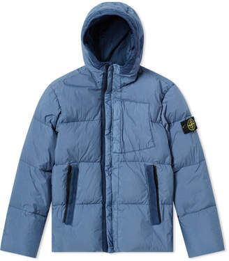 Stone Island Junior Down Filled Crinkle Reps Hooded Jacket