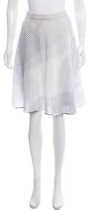 Missoni Knit Knee-Length Skirt w/ Tags White Knit Knee-Length Skirt w/ Tags
