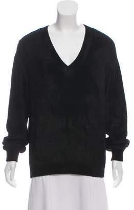 Balenciaga V-Neck Long Sleeve Sweater