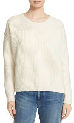 Women's Vince Rib Wool Blend Crewneck Sweater $385 thestylecure.com