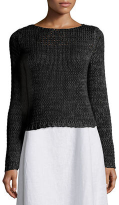 Eileen Fisher Long-Sleeve Crisp Cotton Crop Top $248 thestylecure.com