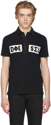 Diesel Black and White T-Diego Polo