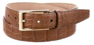 Burberry Crocodile Logo Belt