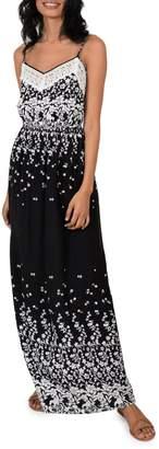 Molly Bracken Thin Strap Printed Maxi Dress