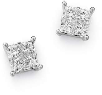 Bloomingdale's Princess-Cut Diamond Stud Earrings in 14K White Gold, 1.0 ct. t.w. - 100% Exclusive