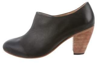Dieppa Restrepo Leather Round-Toe Booties