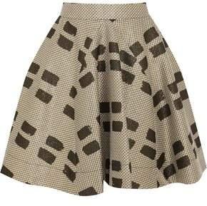 Vivienne Westwood Pleated Printed Woven Mini Skirt