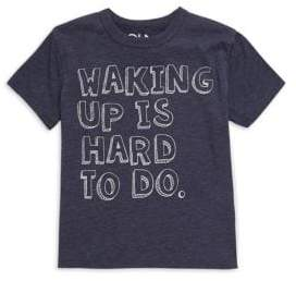 Chaser Little Boy's& Boy's Waking Up Is Hard To Do Tee