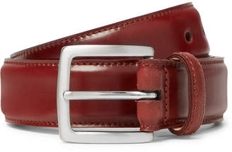 George Cleverley 3.5cm Cognac Horween Shell Cordovan Leather Belt