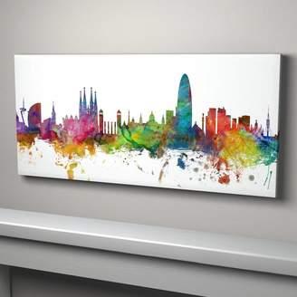 artPause Barcelona Skyline Cityscape Art Print