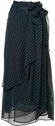 ALEXACHUNG Alexa Chung dotted midi skirt