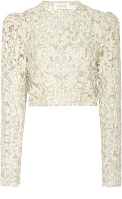 Zimmermann Linen-Lace Top $995 thestylecure.com