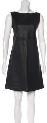Prada Leather Shift Dress